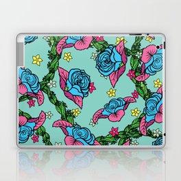 Blue Rose Pattern Laptop & iPad Skin