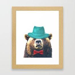 Funny Bear Illustration Framed Art Print