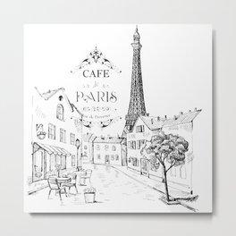 Cafe Paris Metal Print