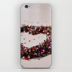 Glitter Heart iPhone & iPod Skin