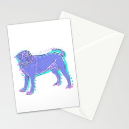 The happy LABRADOR RETRIEVER Love of My Life - your Lab dog keeps you smiling! Stationery Cards