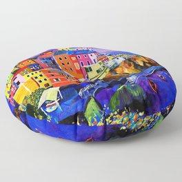 Manarola Cinque Terre Floor Pillow