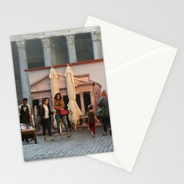 Pantheon of Rome Locals's View Stationery Cards