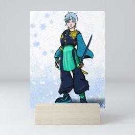 Snow Fox Warrior Mini Art Print