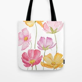 colorful cosmos flower Tote Bag