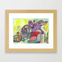 Down The Rabbit Hole Framed Art Print