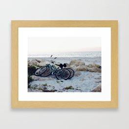 Captiva Island Bikes by Ocean Framed Art Print