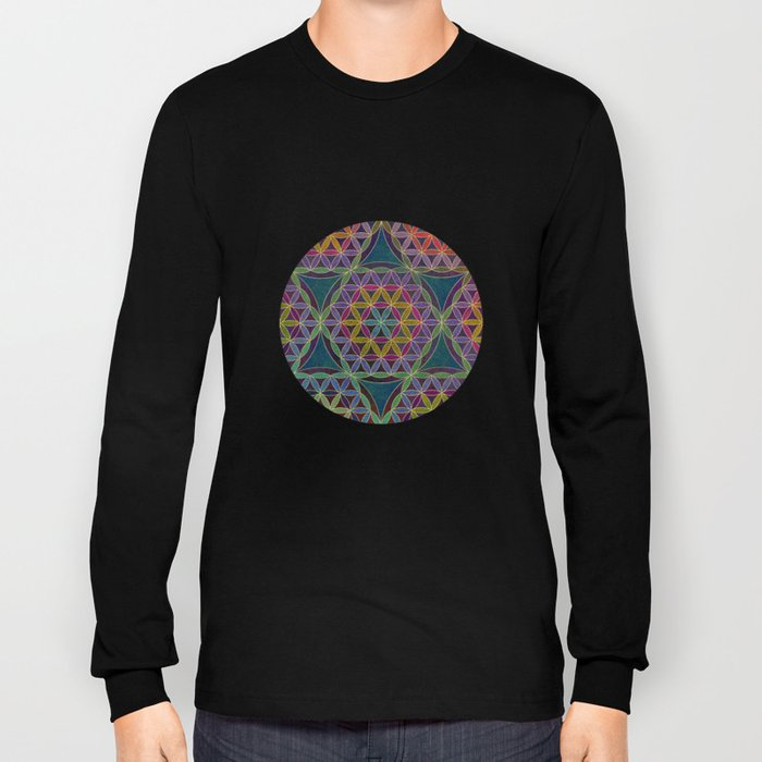 The Flower of Life (Sacred Geometry) 5 Long Sleeve T-shirt