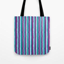 Blueberry Jiggle Stripes Tote Bag