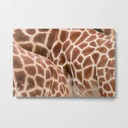 Abstract giraffe picture Metal Print