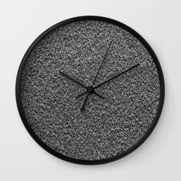 Gray Fleecy Material Texture Wall Clock
