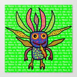 Mexicanitos al grito - Alexbrijin Canvas Print