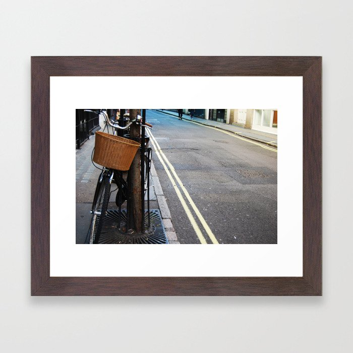 lonely bike Framed Art Print