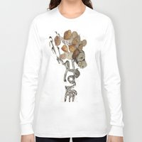 seashell Long Sleeve T-shirts featuring Seashell Love by Ingrid Lliguin
