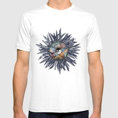All Tribes Heed the Call Mens Fitted Tee White SMALL