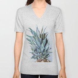 Ananas - Pineapple On A White Background #decor #society6 #buyart Unisex V-Neck