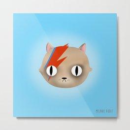 David Meowy Cat Metal Print