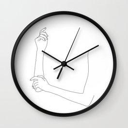 Folded arms line drawing - Alda Wall Clock