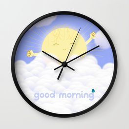 Good Morning Sky Wall Clock