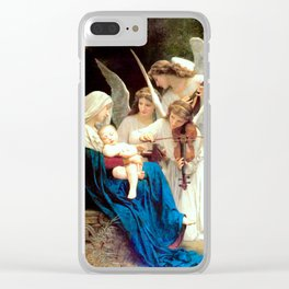 Madonna with Infant Jesus and Angels Virgin Mary Art Clear iPhone Case