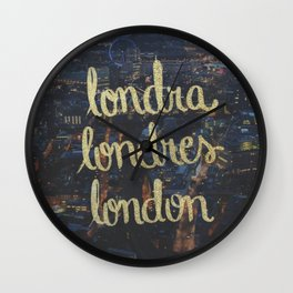 LONDRA/LONDRES Wall Clock