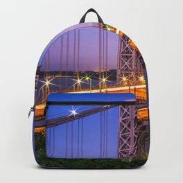 World Famous Historic George Washington Bridge Hudson River New York City Ultra HD Backpack