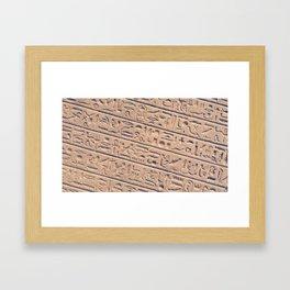 Hieroglyphics Framed Art Print