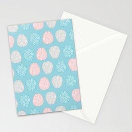 Pastel Brains Pattern Stationery Cards