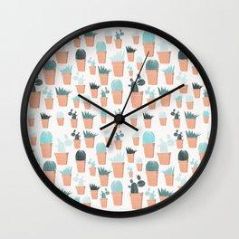 Cacti Print 4 Wall Clock