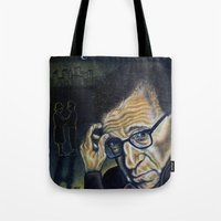 "woody Tote Bags featuring ""Woody"" by PMS Artwork"