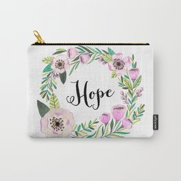 Hope Lettering Watercolor Ilustration Carry-All Pouch