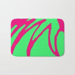 Green Pink Pattern Bath Mat