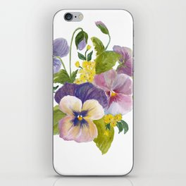 Pansies iPhone Skin