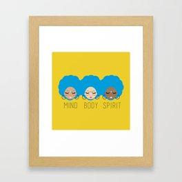 Mind Body Spirit Framed Art Print
