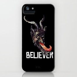 Krampus Believer Gruss Vom Merry Christmas Demon iPhone Case