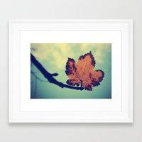 leaf Framed Art Prints featuring Leaf! by Enkel Dika
