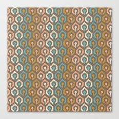 Honeycomb IKAT - Cocoa Canvas Print