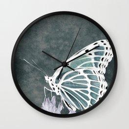 Milkweed Butterfly Inverse Wall Clock