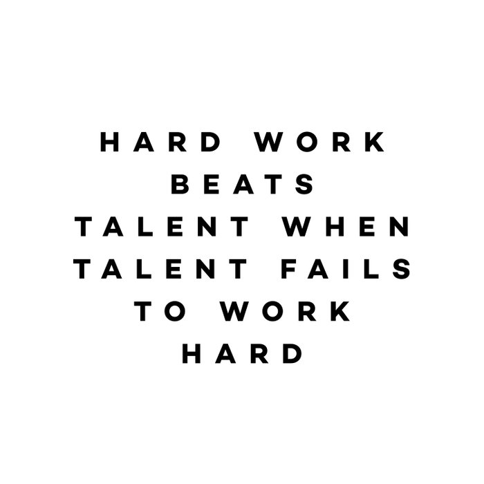 Hard work beats talent when talent fails to work hard Comforters