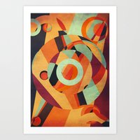 circus Art Prints featuring Circus by VessDSign