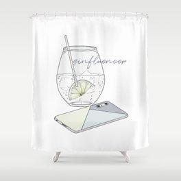 Ginfluencer Shower Curtain