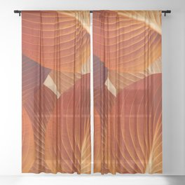 Leaves in Terracotta Color #decor #society6 #buyart Sheer Curtain