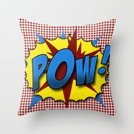 Pop Art Pow in comic Lichtenstein style Throw Pillow