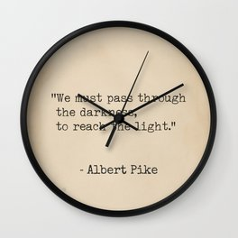 Albert Pike Old paper Wall Clock