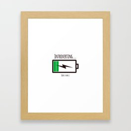 Introverting Framed Art Print