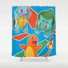 Kanto Starter Poster Shower Curtain