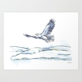 Flying Eagle, Hudson Valley (center) Art Print