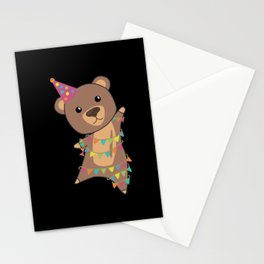 Birthday Bear Bear Bears Garland Birthday Stationery Cards