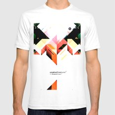 Abstrakt. Mens Fitted Tee White SMALL