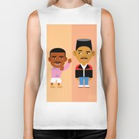 fresh prince Biker Tanks featuring The Fresh Prince by Evan Gaskin